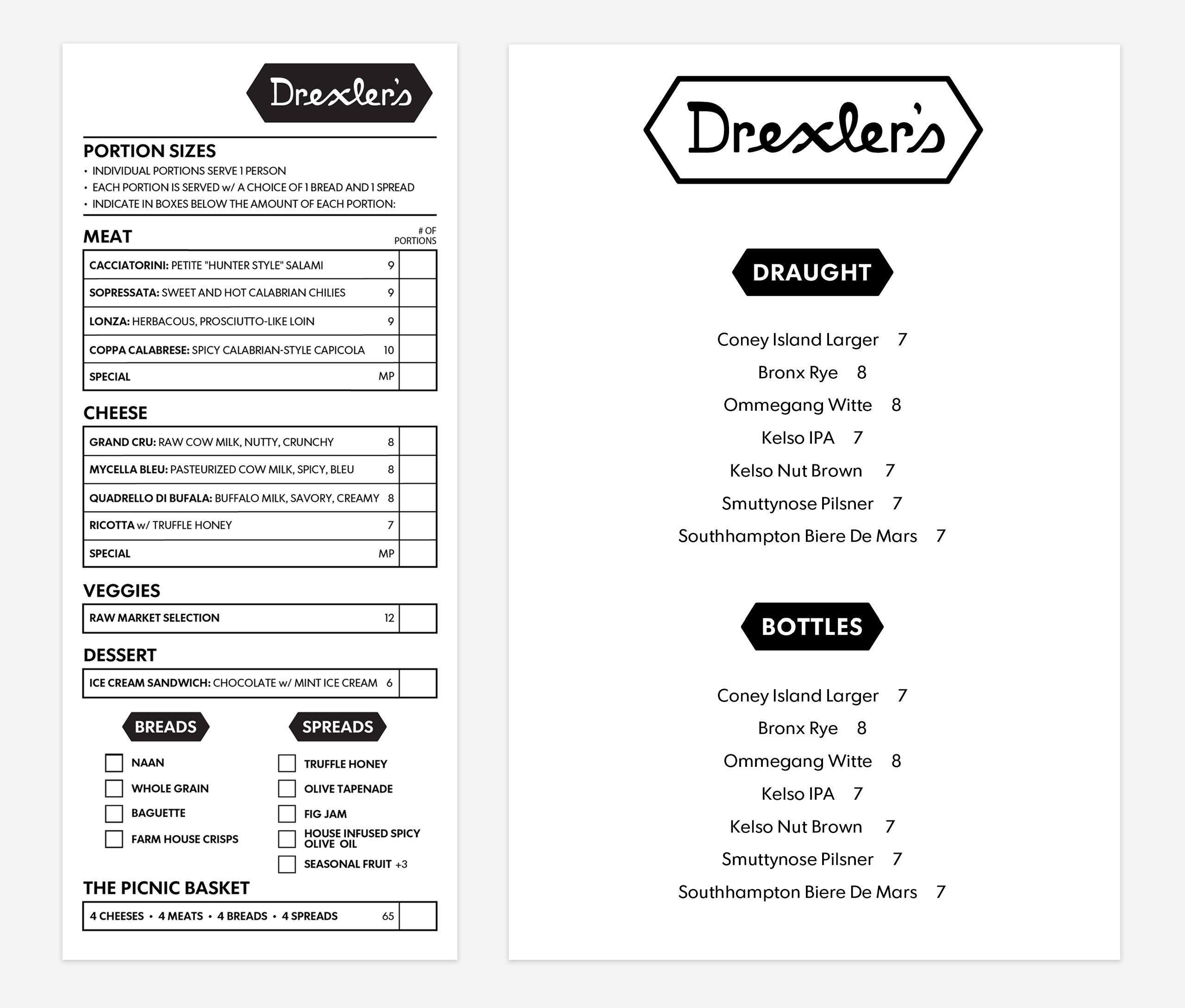 Drexlers_menus