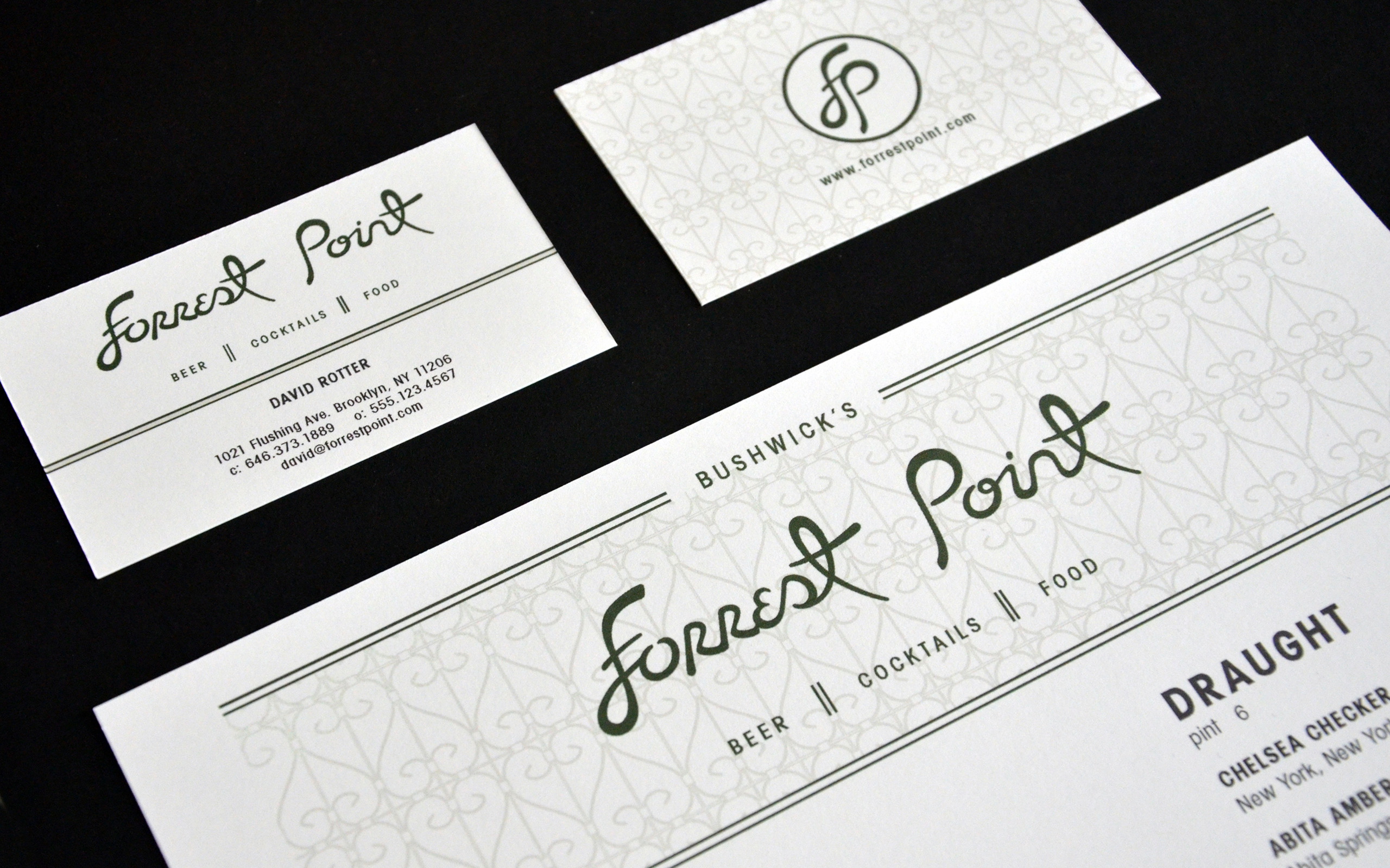 FORREST POINT_menus